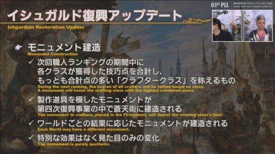 FFXIV 5.4 Traducción de Live Letter: Monumento a la Restauración Ishgardiana - Final Fantasy XIV