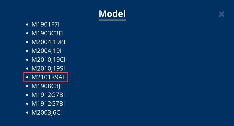 Certificado BIS de Xiaomi Mi 11 Lite