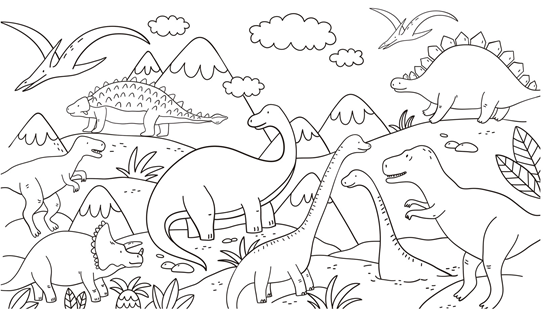dibujos dinosaurios